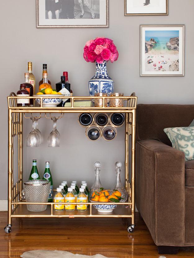 How-to-Make-a-Gold-DIY-Bar-Cart-Glitzy-Bar-Cart