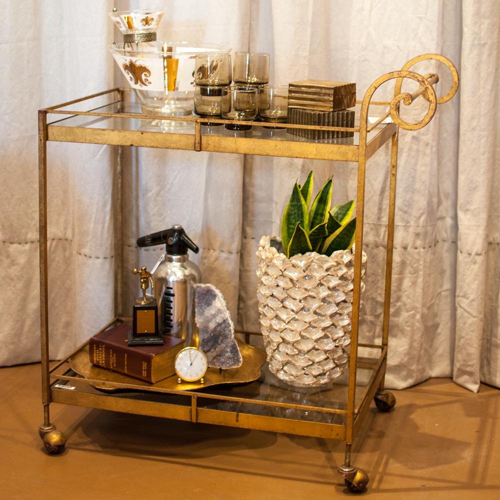 Vintage-Gold-Bar-Cart
